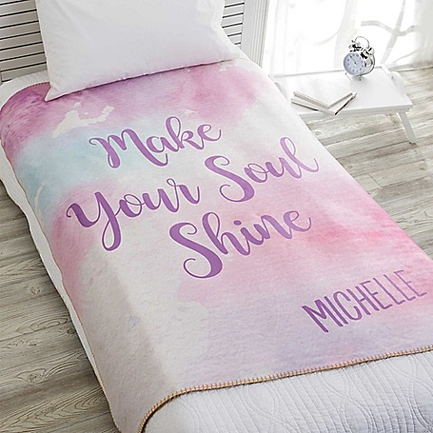 image of Watercolor Premium Sherpa Throw Blanket