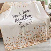 Sparkling Love 50-Inch x 60-Inch Premium Sherpa Throw Blanket