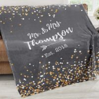 Sparkling Love 50-Inch x 60-Inch Fleece Throw Blanket