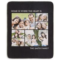Picture Perfect 6-Photo 50-Inch x 60-Inch Premium Sherpa Throw Blanket