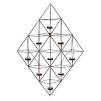 Danya B. Geometric Metal Wall Tea Light Holder in Black
