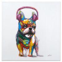 Dog Beats II Mixed Media 24-Inch Square Canvas Wall Art