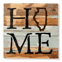Sweet Bird & Co. Illinois Home State Reclaimed Wood Wall Art