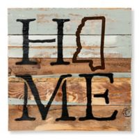 Sweet Bird & Co. Mississippi Home State Reclaimed Wood Wall Art