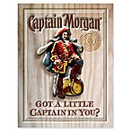 "Captain Morgan 18-Inch x 12-Inch ""Got a Little Captain in You"" Decorative Sign"