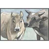 Marmont Hill Vache Romance 18-Inch x 12-Inc Canvas Wall Art with Floater Frame