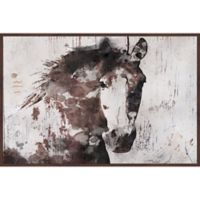 Marmont Hill Gorgeous Horse 24-Inch x 16-Inch Framed Wall Art