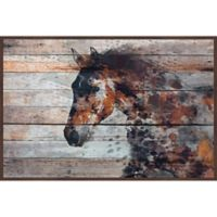 Marmont Hill Fire Horse 60-Inch x 40-Inch Framed Canvas Wall Art