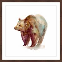 Marmont Hill Grizzly 24-Inch Square Framed Wall Art