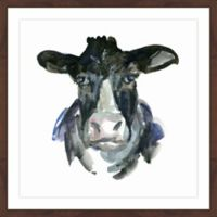 Marmont Hill Cow Face 18-Inch x 18-Inch Framed Wall Art