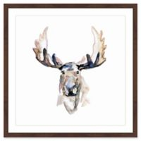 Marmont Hill Moose Paint 12-Inch x 18-Inch Framed Wall Art