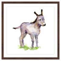Marmont Hill Baby Donkey 40-Inch Square Framed Canvas Wall Art