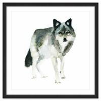 Marmont Hill Wolf Stance 12-Inch Square Framed Wall Art