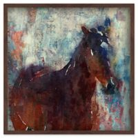 Marmont Hill Wild Brown Horse 32-Inch Square Canvas Wall Art with Shadow Box