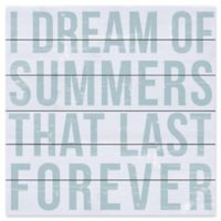 """Marmont Hill """"I Dream of Summers"""" 18-Inch Square Wooden Wall Art"""