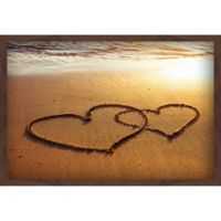 Marmont Hill Double Hearts 36-Inch x 24-Inch Canvas Wall Art