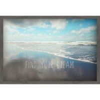 Marmont Hill Find Your Dream 24-Inch x 16-Inch Canvas Wall Art with Shadow Box