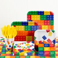 Creative Converting Building Blocks Birthday Party Supplies Kit