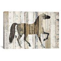 "iCanvas ""Dark Horse"" 26-Inch x 18-Inch Canvas Wall Art"