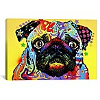 iCanvas Pug 18-Inch x 12-Inch Canvas Wall Art