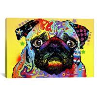 iCanvas Pug 26-Inch x 18-Inch Canvas Wall Art