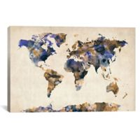 "iCanvas ""Urban Watercolor Map V"" Extra-Deep 26-Inch x 18-Inch Canvas Wall Art"