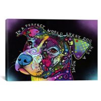 """iCanvas """"In a Perfect World"""" Extra-Deep 40-Inch x 26-Inch Canvas Wall Art"""
