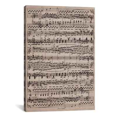 "iCanvas ""Sheet Music Ode to Joy"" Canvas Wall Art"