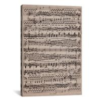 "iCanvas ""Sheet Music Ode to Joy"" Extra-Deep 18-Inch x 26-Inch Canvas Wall Art"