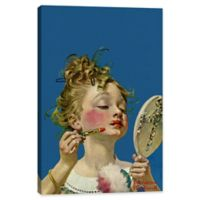 """iCanvas Norman Rockwell 18-Inch x 12-Inch Deep """"Little Girl with Lipstick"""" Canvas Wall Art"""