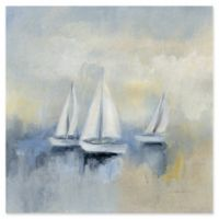 Trademark Fine Art Morning Sail II 35-Inch Square Canvas Wall Art