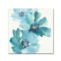 Trademark Fine Art Teal Cosmos IV 14-Inch Square Canvas Wall Art