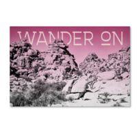 "Trademark Fine Art Ombre IV ""Wander On"" 19-Inch x 12-Inch Canvas Wall Art"