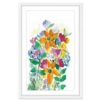Marmont Hill Wild Flower Bouquet Framed 16-Inch x 24-Inch Wall Art