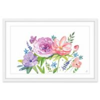 Marmont Hill Pastel Bouquet 18-Inch x 12-Inch Framed Wall Art