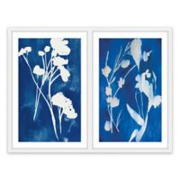 Marmont Hill A Touch of Royal Blue Diptych 80-Inch x 60-Inch Framed Wall Art