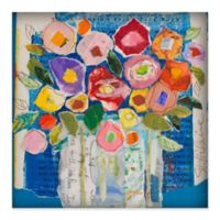 Marmont Hill Floral Composition 48-Inch Sq. Canvas Wall Art