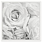 Marmont Hill Soft White Petals 18-Inch Square Framed Wall Art
