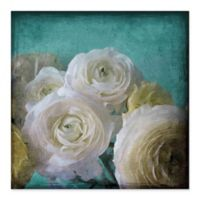 Marmont Hill Yellow Ranunculus Canvas 24-Inch Square Wall Art with Shadowbox Frame