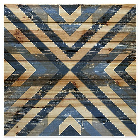 image of Marmont Hill Converging Blues Pinewood Wall Art