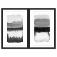 Marmont Hill Grey Transitions Diptych 32-Inch x 24-Inch Framed Wall Art