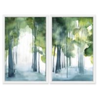 Marmont Hill Through the Haze 32-Inch x 24-Inch Diptych Framed Wall Art