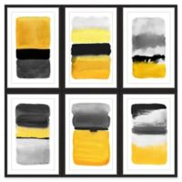 Marmont Hill Transitions Hexaptych 36-Inch Square Wall Art in Yellow