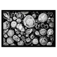 Marmont Hill Log Stack 45-Inch x 30-Inch Shadow Box Wall Art