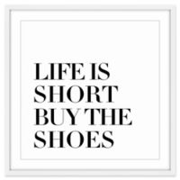 Marmont Hill Buy the Shoes 24-Inch x 24-Inch Wall Art