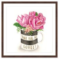 Marmont Hill But First Coffee 12-Inch x 12-Inch Wall Art