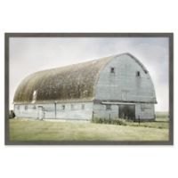 Marmont Hill The Blue Barn 20-Inch x 30-Inch Framed Wall Art