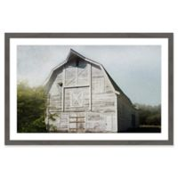 Marmont Hill Iconic White 24-Inch x 16-Inch Framed Wall Art