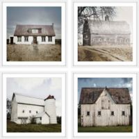 Marmont Hill Farm Neighborhood 80-Inch sq. Framed Wall Art (Set of 4)