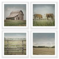 Marmont Hill Out with the Cows Quadriptych 96-Inch sq. Wall Art